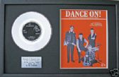 "THE SHADOWS - 7"" Platinum Disc & songsheet - DANCE ON"